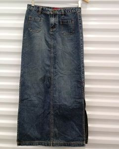 Union Bay Maxi Denim Womens Skirt Petite Size 1